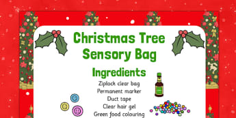 Christmas Tree Sensory Bag - christmas tree, sensory bag, sensory, bag, christmas