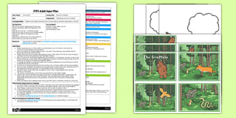 What Am I Thinking Writing Activity to Support Teaching on the Gruffalo EYFS Adult Input Plan and Resource Pack - EYFS planning, Early Years Activities, adult led, literacy, c&l, The Gruffalo, Julia Donaldson