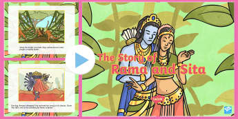 The Story of Rama and Sita PowerPoint - diwali, hinduism, RE, diwali story for early years