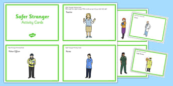 Safer Stranger Activity Cards - safer stranger, safe, stranger, activity, cards