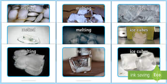 Ice Cubes Display Photos - EYFS, Early Years, water, water cycle, rain, rivers, sea, oceans, Science, Understanding the World,