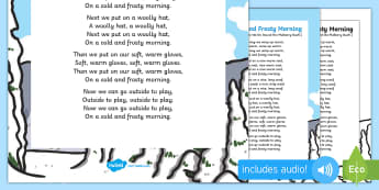 Cold and Frosty Morning Song - EYFS, Early Years, Winter, snow, season, cold, frost, singing, music