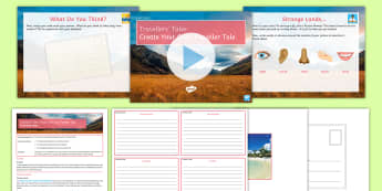 Traveller's Tales: Create Your Own Traveller Tale Lesson Pack - Travel Writing, Creative Writing, Descriptive Writing, Sensory Detail, Senses.