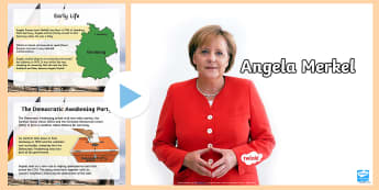 KS2 Angela Merkel Information PowerPoint - Europe, german chancellor, germany, German politician, Chancellor of Germany
