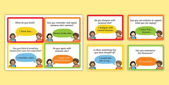 Speaking and Listening Talking Frame Cards - cards, speak, listen, oral language, oracy,