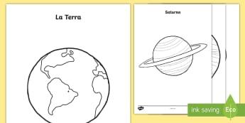 I pianeti Fogli da colorare - pianeti, pianeta, spazio, galassia, fogli, colorare, materiale, soclastico, didattico, colore, itali