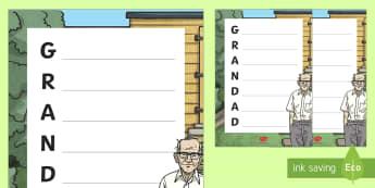 Grandad Acrostic Poem - Grandparents' Day Pack, grandparents, grandad, grandpa, family, poetry, poem, acrostic, acrostic po