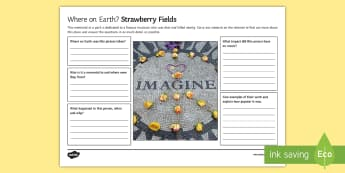 Where on Earth? Strawberry Fields Activity Sheet  - Secondary - Geography - Tourism impacts positive negative travel research