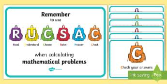 RUCSAC Prompt Posters - RUCSAC Classroom Display