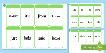 Middle East Phase 4 High Frequency Words Flashcards - reading, game, sight words, HFW, Cards.