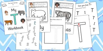 My Workbook T uppercase - education, home school, child development, children activities, free, kids, worksheets, how to write, literacy