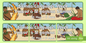Bilingual Sāmoan Language Week Display Banner - Samoa, Samoan, Language Week, Samoan Language Week