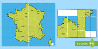 Tapis d'activités Beebot : Les principales villes de France - Cartes géographiques, map,cycle 2, cycle 3,  KS2, villes, towns, cities, France, tapis d'activit
