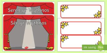 Poster Arddangos A3 Seren yr Wythnos - welsh displays, welsh display, new display, maths, english, reward, gwobrwyo, seren yr wythnos, cofn