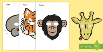Zoo Role-Play Masks - Zoo, Animals, Role, Play, Masks, Roleplay