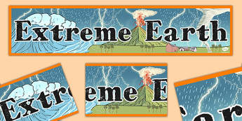 Extreme Earth Display Banner - extreme, earth, display, banner