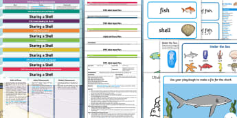 EYFS Lesson Plan Enhancement Ideas and Resources Pack to Support Teaching on Sharing a Shell - Early Years, early years planning, continuous provision, adult led, Sharing a Shell, Share My Shell, Julia Donaldson, under the sea, ocean, fish, shells, c