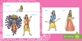 Diwali Story Puppets English/Portuguese - Diwali Story Puppets - diwali, story, puppets, stick puppets, diwali story for early years, diwali s