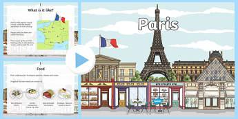 Paris Information PowerPoint - paris, paris powerpoint, french capital, capital of france, capital cities, information about paris, france, places, ks2