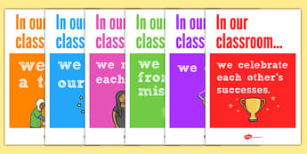 In Our Classroom Display Posters - in our classroom poster, in our classroom posters, in our classroom, display posters, classroom display posters, display
