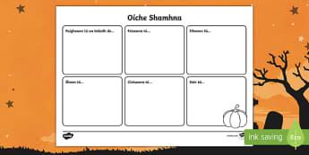 Oíche Shamhna Sensory Activity Sheet Gaeilge