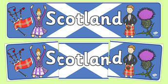 Scotland Display Banner - Scotland, Olympics, Olympic Games, sports, Olympic, London, 2012, display, banner, sign, poster, activity, Olympic torch, flag, countries, medal, Olympic Rings, mascots, flame, compete, events, tennis, athlete, swimming