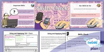 Computing: Using and Applying: Skills Check Year 1 Lesson Pack 1