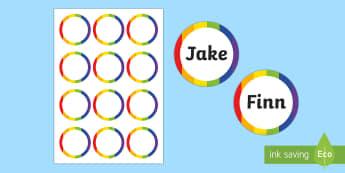 Generic Party Badges - generic, party, generic party, celebrate, badges, name badges