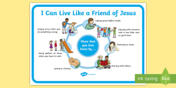 I can live like a friend of Jesus Display Poster - Confession & First Communion Resources,Irish