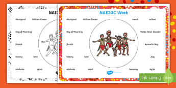 NAIDOC Week Word Mat - Australia, History, Indigenous, Aboriginal, people, Day of Mourning,Australia