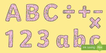 Sprinkles Display Letters and Numbers Pack - sprinkles, food, buns, toppings, cupcakes, cakes, pink,