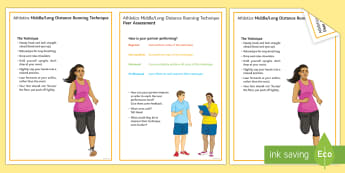 Long/Middle Distance Running Techniques Card - mo farrah, 800m, 1500m, track, olympics