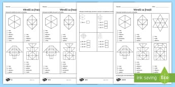 Colorează conform fracției - Fișe de lucru diferențiate - fracții, rație, număr rațional, fracție, exerciții, fișe,matematică, română, materiale,Rom