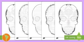 Pautas: Día de los Muertos - Día de Muertos, pautas, pautas para escribir, marco para escribir, escritura, español