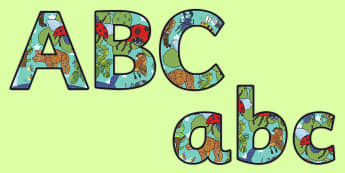 Themed Size Editable Display Lettering to Support Teaching on The Bad Tempered Ladybird