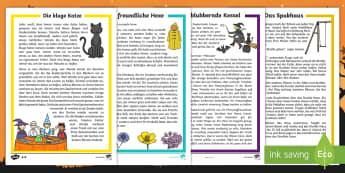 Halloween Leseverstehen Materialienbündel - Oktober, Herbst, Feier, Lesen, Geschichte,,German