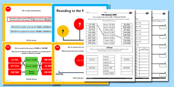 Year 5 Rounding to the Nearest 10000 and 100000 Lesson Teaching