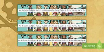 Recta alfabética: Los piratas - Los piratas, proyecto, transcurricular, el mar, barcos, caligrafía, escritura, escribie, formación