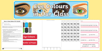 Eye Colour Statistics Yr 1 Lesson Activity and  Display Pack