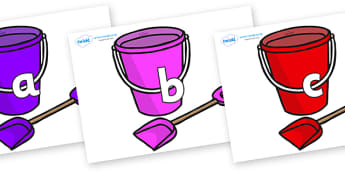 Phase 2 Phonemes on Spade and Buckets - Phonemes, phoneme, Phase 2, Phase two, Foundation, Literacy, Letters and Sounds, DfES, display