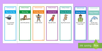 Reading Strategy Bookmarks - Guided Reading Strategy Cards - Guided, Reading, Strategy, Cards, reding