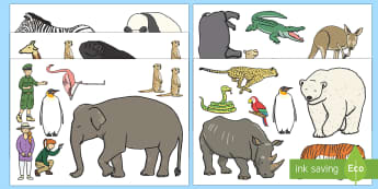 Zoo-Themed Cut-Outs - EYFS, Early Years, Dear Zoo, Rod Campbell, animals, letter to the zoo, At the Zoo.