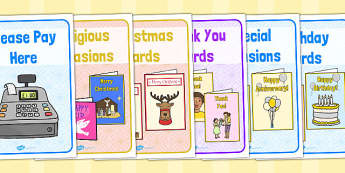 Card Shop Role Play Signs - role-play, signs, card, shop, cards