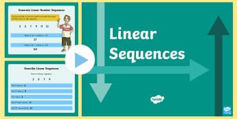 Year 6 Linear Sequences PowerPoint - KS2, Maths, nth term, linear sequences, Y6, Year 6, algebra,