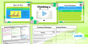 PlanIt - DT LKS2 - Mechanical Posters Lesson 6: Finishing Techniques Lesson Pack - planit, design and technology, Go Green, Eco, recycle, warrior, environment