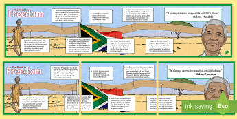 The Road to Freedom   Freedom Day Timeline Display Facts Posters - South Africa, Freedom Day, 27th April, F.W. de Klerk, elections, 1994, Apartheid, government, consti