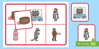 Little Red Riding Hood Matching Cards and Board - little red riding hood matching game, little red riding hood picture matching activity, image matching