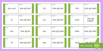 Percentages of Money Loop Cards - Stage 3, Year 6, Mathematics, Loop cards, Money and Financial Mathematics, percentages, money, ACMNA