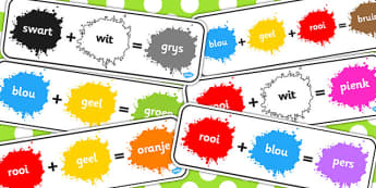 Afrikaans Kleur Mengpak - kleure, kleur meng, woordeskat