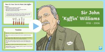 Kyffin Williams Information and Tasks PowerPoint - Wynebau Enwog Cymru, Enwog, Wynebau Cymru, Hanes. Hedd Wyn, poet, bard, Rhyfel Byd Cyntaf, First Wor